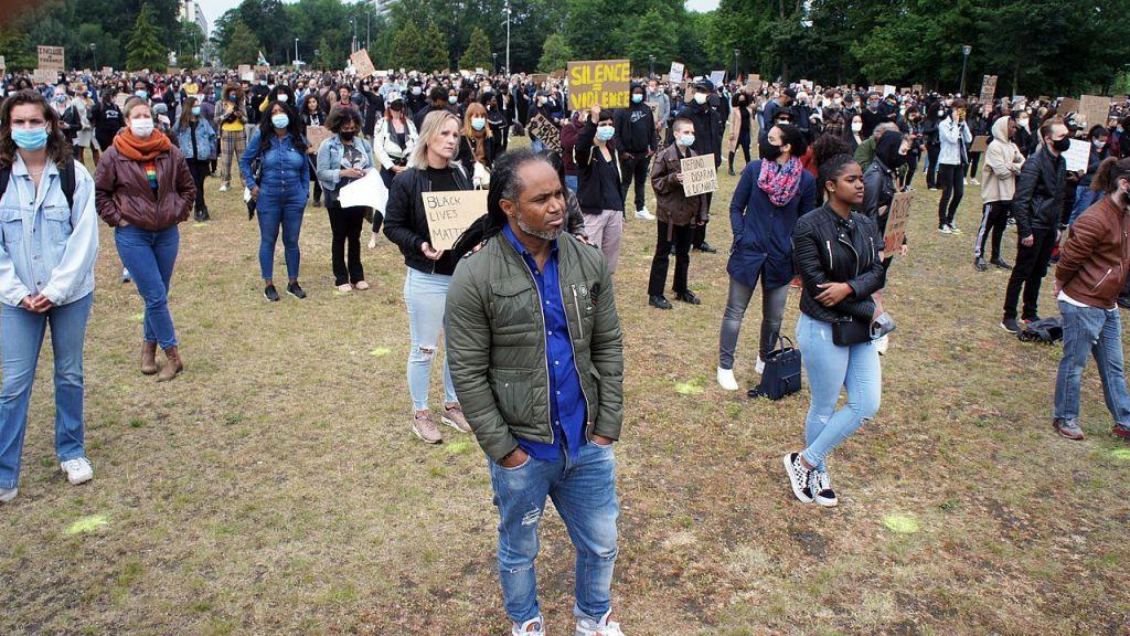 Black Lives Matter antiracisme en -discriminatie demonstratie in Ede
