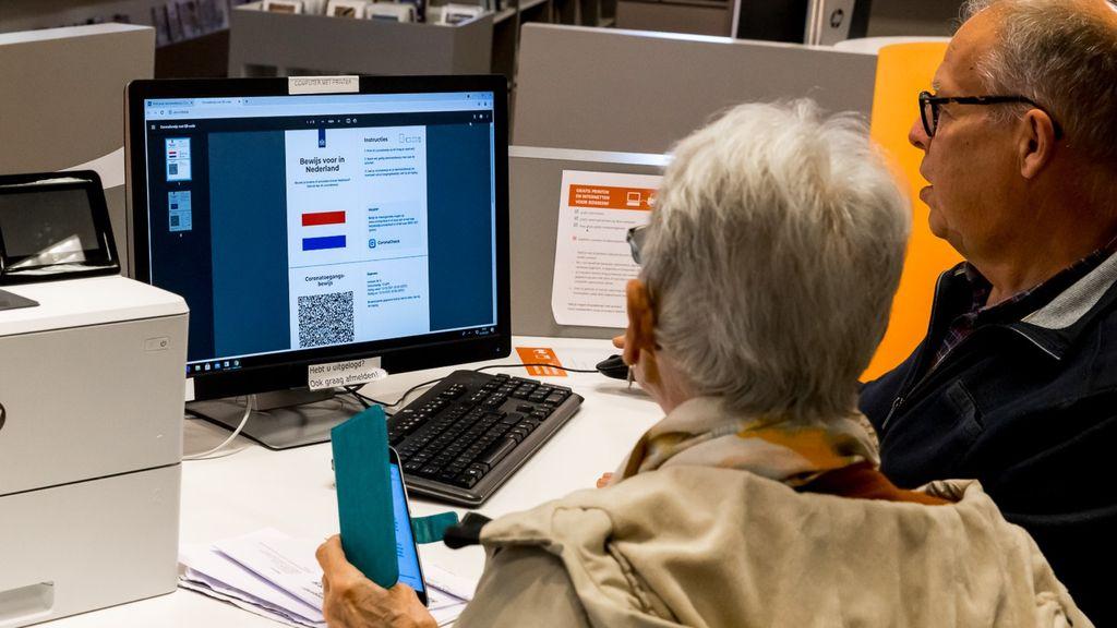 GGD en bibliotheek helpen met corona-toegangsbewijs