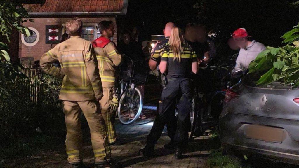 Jerrycan benzine vat vlam, meerdere dingen in tuin verwoest