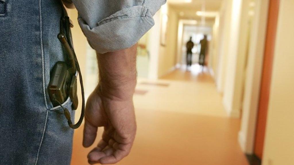 Agenten namen de tbs-patiënt mee naar het bureau na het incident. Foto: ANP