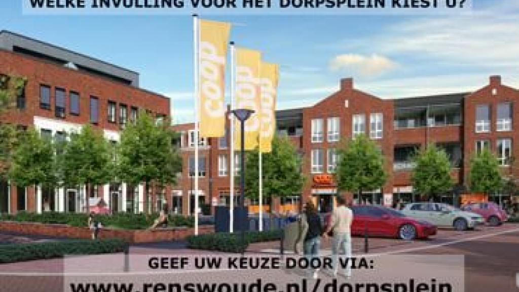 Plannen voor de afronding Dorpsplein Renswoude onthuld