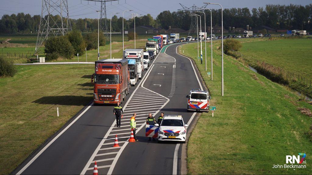 Lange file Maas en Waalweg na ongeval