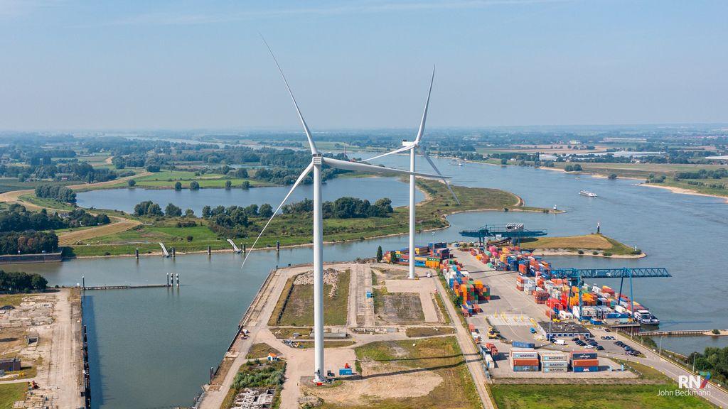 Als het waait, worden de windmolens bij Centrale Gelderland getest