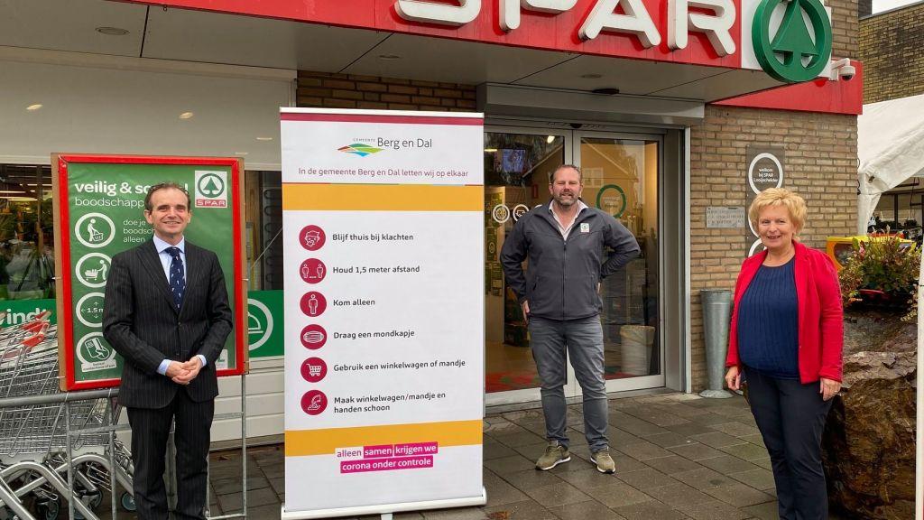 Gezamenlijke Corona-aanpak van Gemeente en Supermarkten van start in Berg en Dal