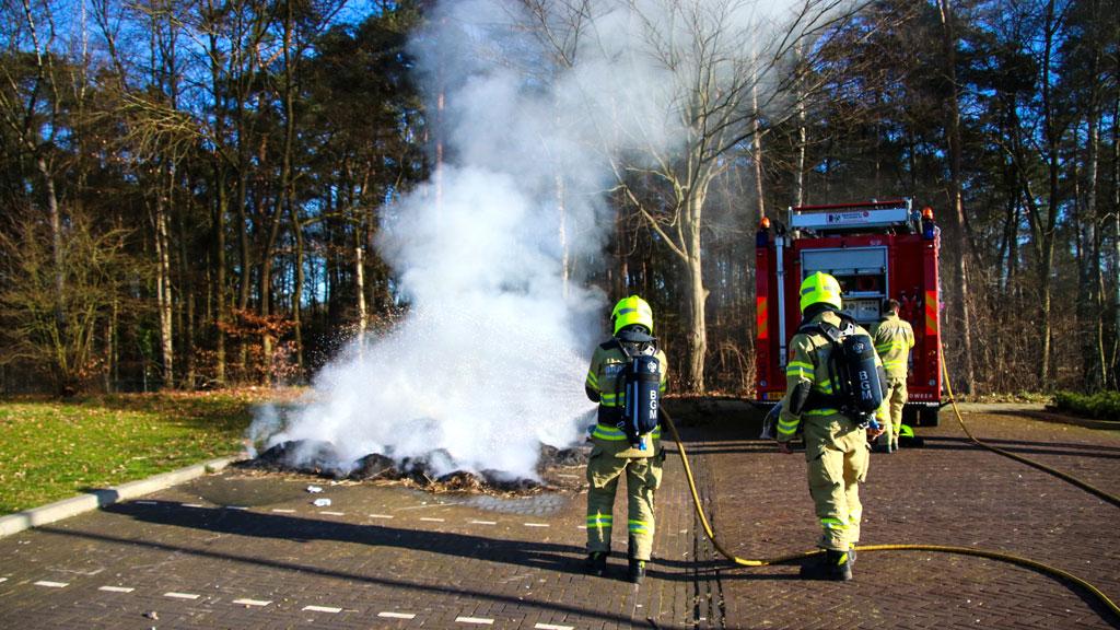 Sportpark onder de rook na brandje in Dieren