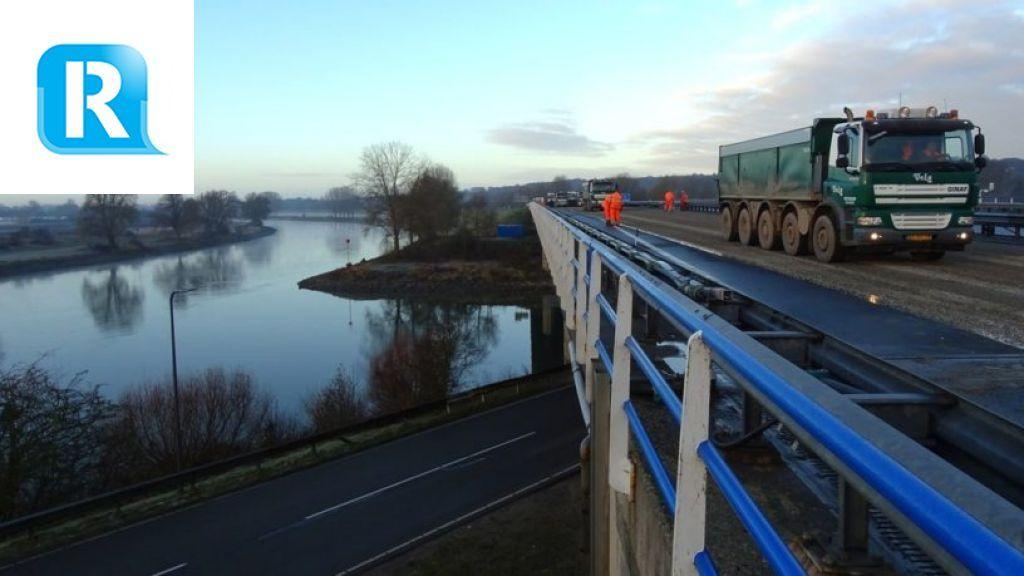 A348 weer (even) dicht: brug wordt millimeters opgetild