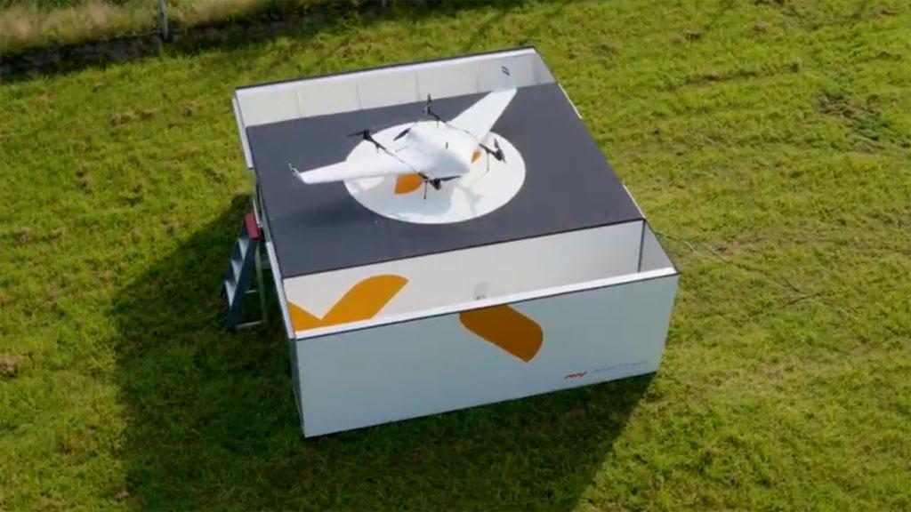 Brandweer maakt tweede testvlucht met lange afstand drone op de Veluwe