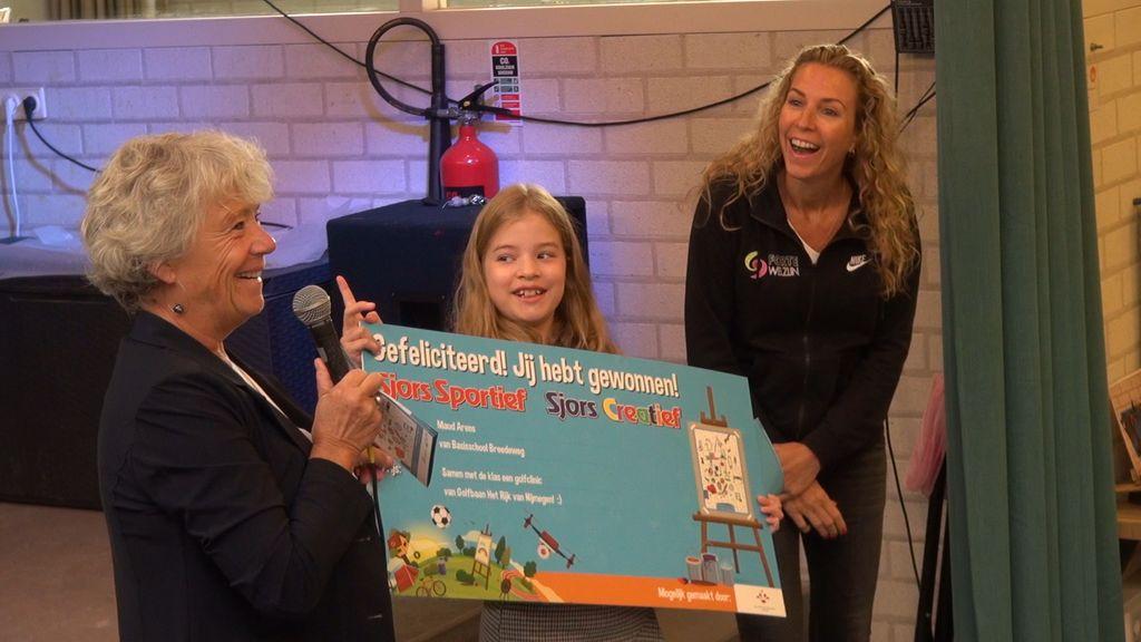 Maud wint Sjors Sportief & Creatief Tekenwedstrijd