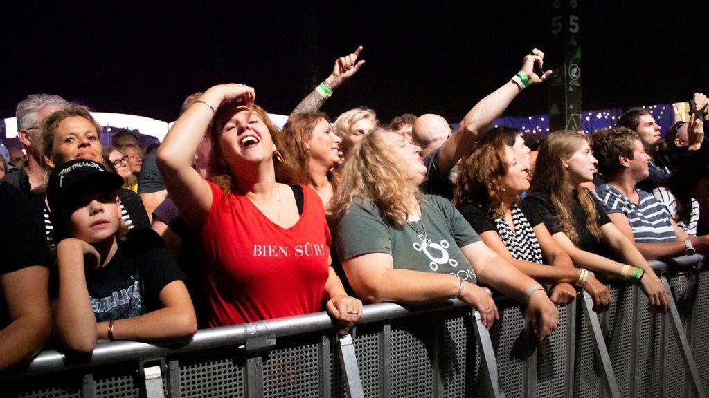 Publiek tijdens Appelpop. Foto: Ton Arbouw