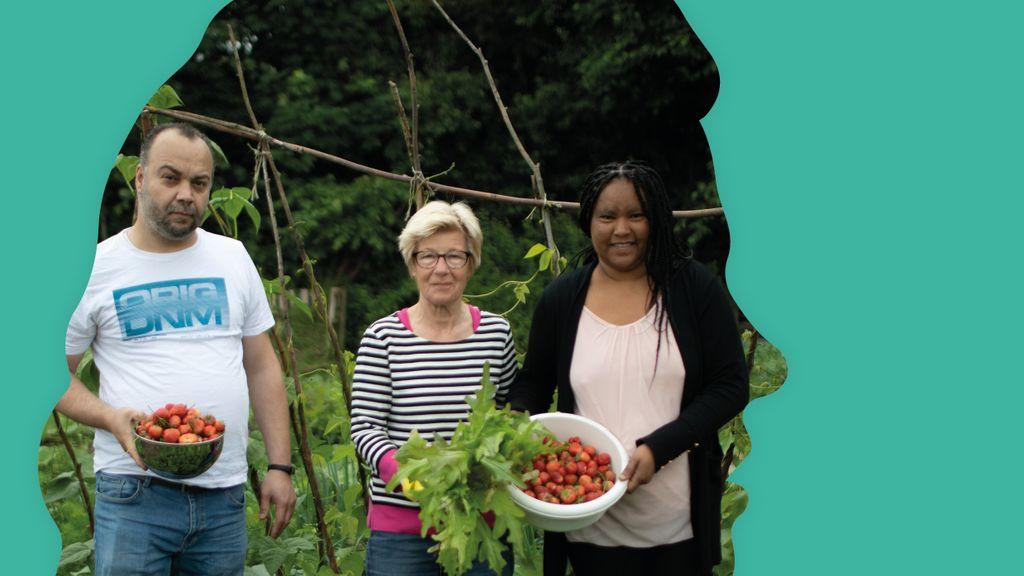 Hanny werkt samen met Nieuwe Nederlanders in Ooijse moestuin