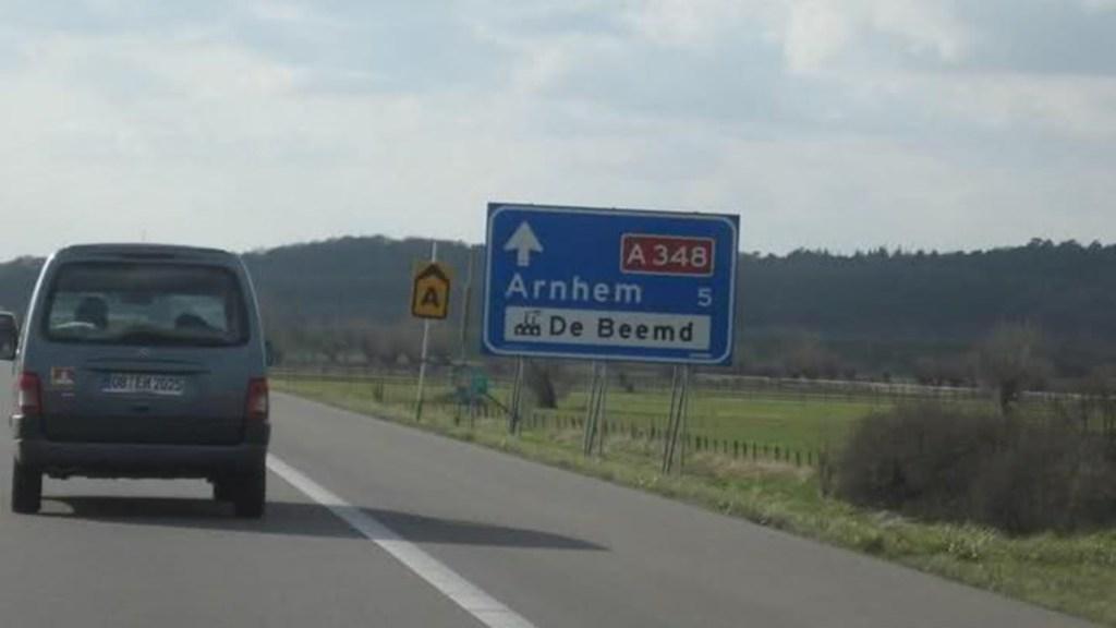 A348 tussen Arnhem en Dieren in het weekend van 10 september afgesloten