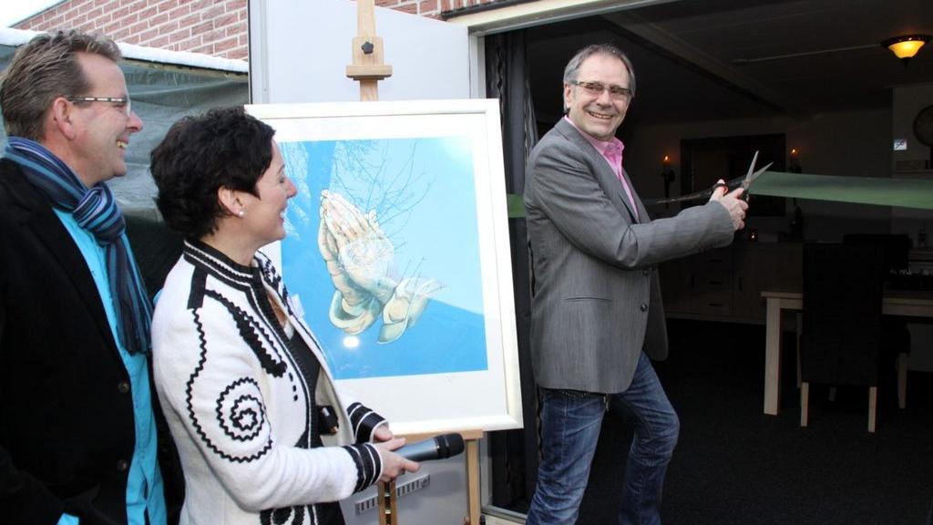 Dierbaar schilderij van Dineke naar de kringloop gebracht, door haar man en zoon