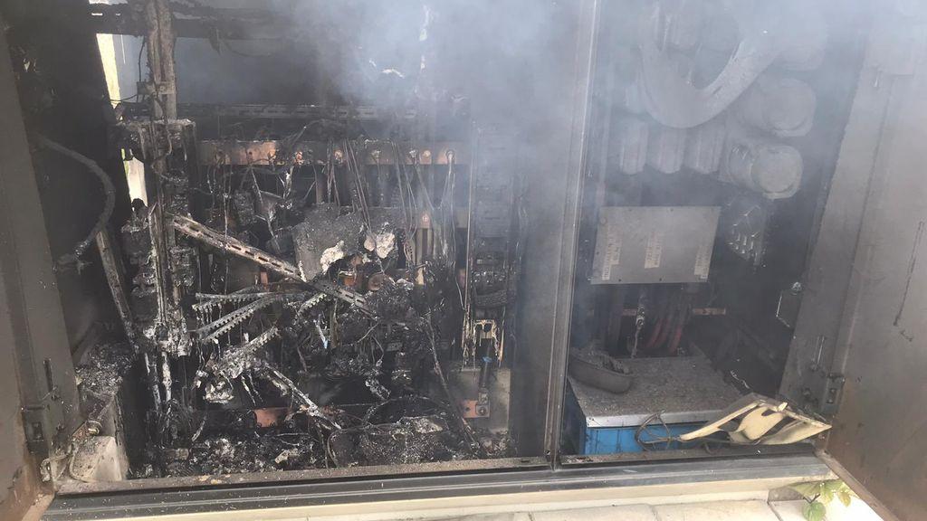 Brand in elektriciteitshuisje op 't Harde