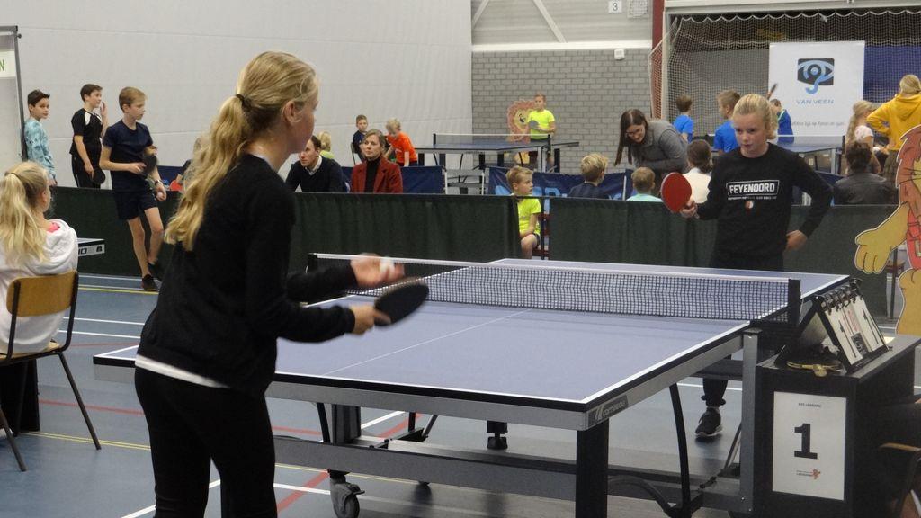Tafeltennistoernooi scholieren een sportieve happening