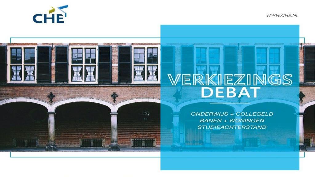Studenten verkiezingsdebat Foto: CHE