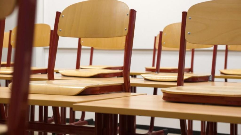 Een lege schoolklas. Foto: Pxhere