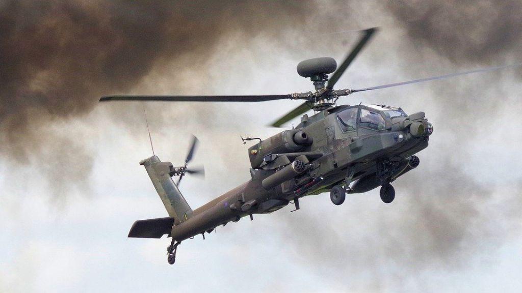 Helikopters oefenen in de regio