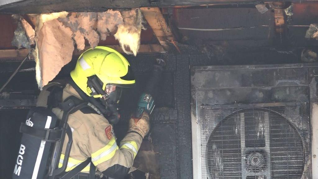 Bewoners naastgelegen appartementen kunnen weer naar huis na grote brand