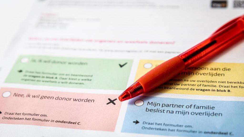 De nieuwe donorwet ging in op 1 juli 2020. Foto: ANP