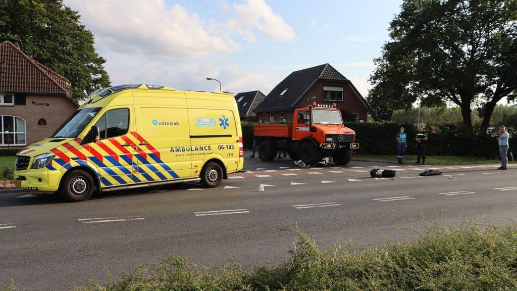Ongeluk op de kruising. Foto: Gert-Jan Rekers| RTV Nunspeet