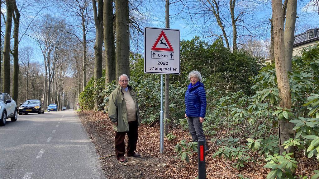 Wildspiegels om reeën te beschermen tegen het verkeer