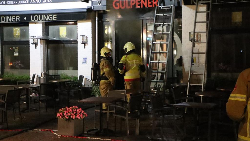Brand bij restaurant aan de Dorpsstraat in Nunspeet