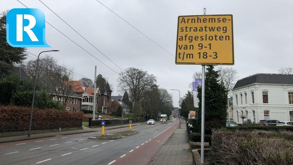 Arnhemsestraatweg in Velp dicht door werkzaamheden