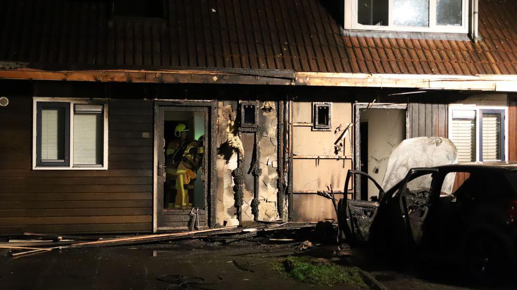 Flinke schade aan huizen na autobrand in Culemborg