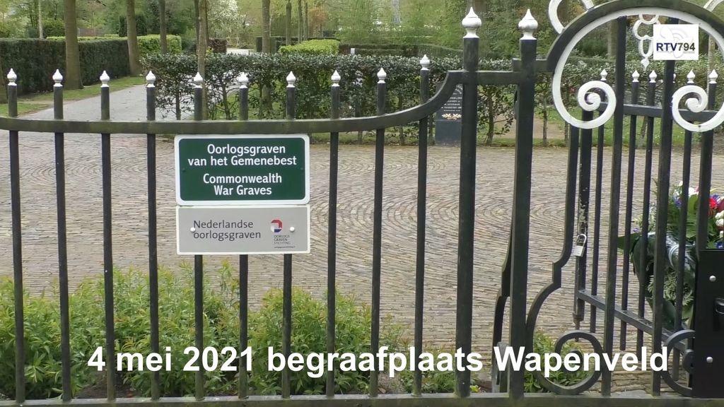 Krans- en bloemleggingen door college B&W Heerde in Veessen, Wapenveld en Heerde op 4 mei 2021