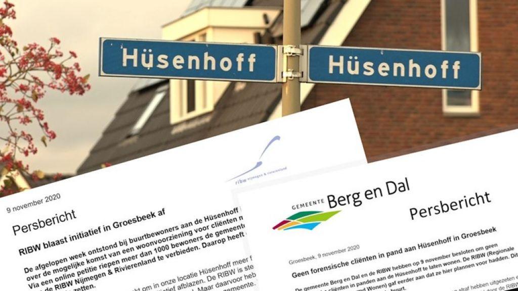 RIBW schrijft brief naar aanleiding van onrust Hüsenhoff Groesbeek