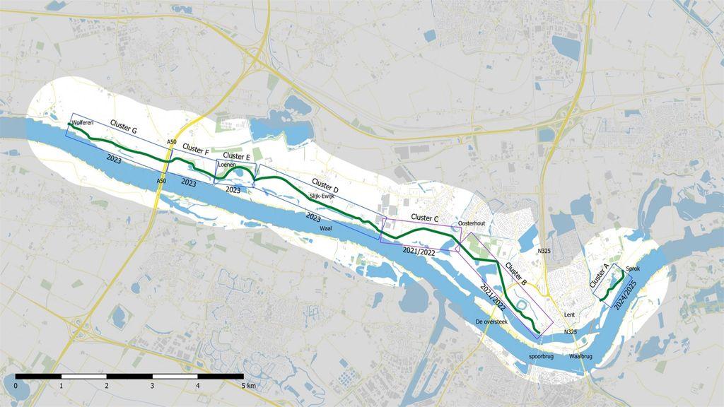 Oosterhoutsedijk en Waaldijk vanaf 30 augustus lange tijd afgesloten