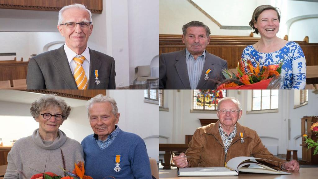 Vier koninklijke onderscheidingen in Wageningen