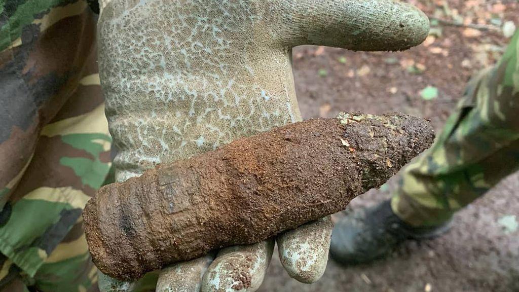 Granaat in de bossen van Ermelo