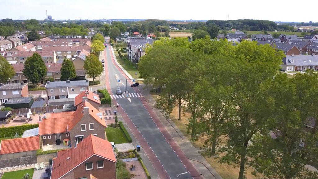 Van kruising naar rotonde op de Houtduiflaan in Beuningen