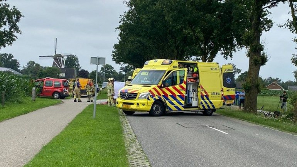 Het ongeval gebeurde op de Renswoudsestraatweg. Foto: Damian Ruitenga/NewsUnited