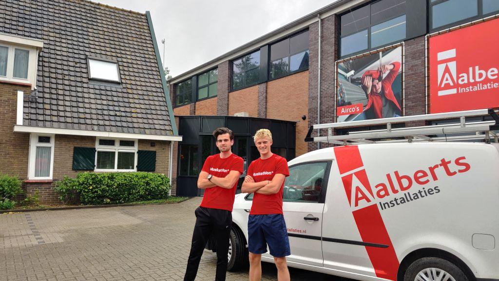 Gerrit en Ruud lopen halve marathon in Ghana