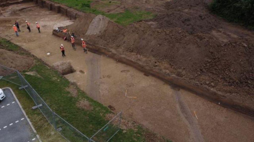 De Romeinse weg. Foto: Waterschap Rivierenland