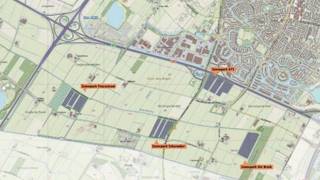 Raad neemt positief besluit over vier zonneparken zuidrand Beuningen, plannen t/m 18 maart ter inzage