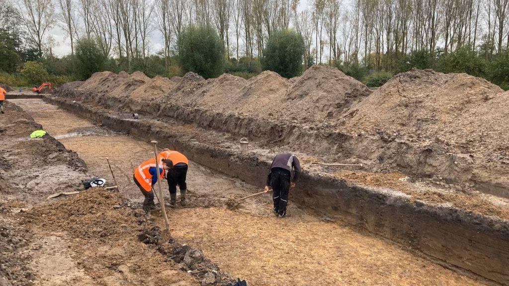 Deel van mortiergranaat gevonden in buurt van blootgelegd kasteel