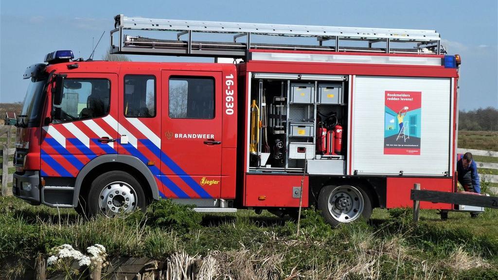 Accu's in brand, schade aan pand Harderwijk