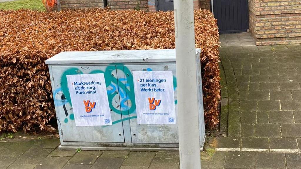 Anti-VVD-posters 'bedoeld om verwarring te zaaien', zegt initiatiefnemer