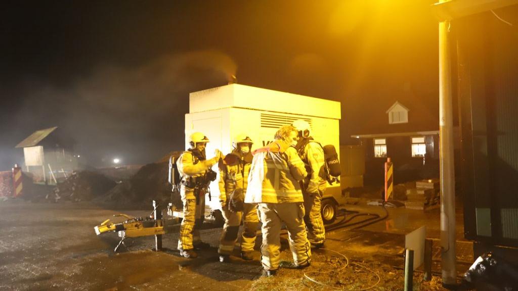 Brandweer rukt uit voor oververhitte aggregaat