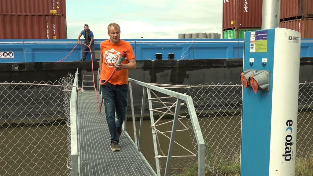 Schipper Erik Leinenga van de Nijmegen Max. Foto: Omroep Gelderland