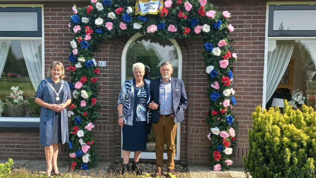 Echtpaar Van Ommen 50 jaar getrouwd Foto: Gemeente Oldebroek