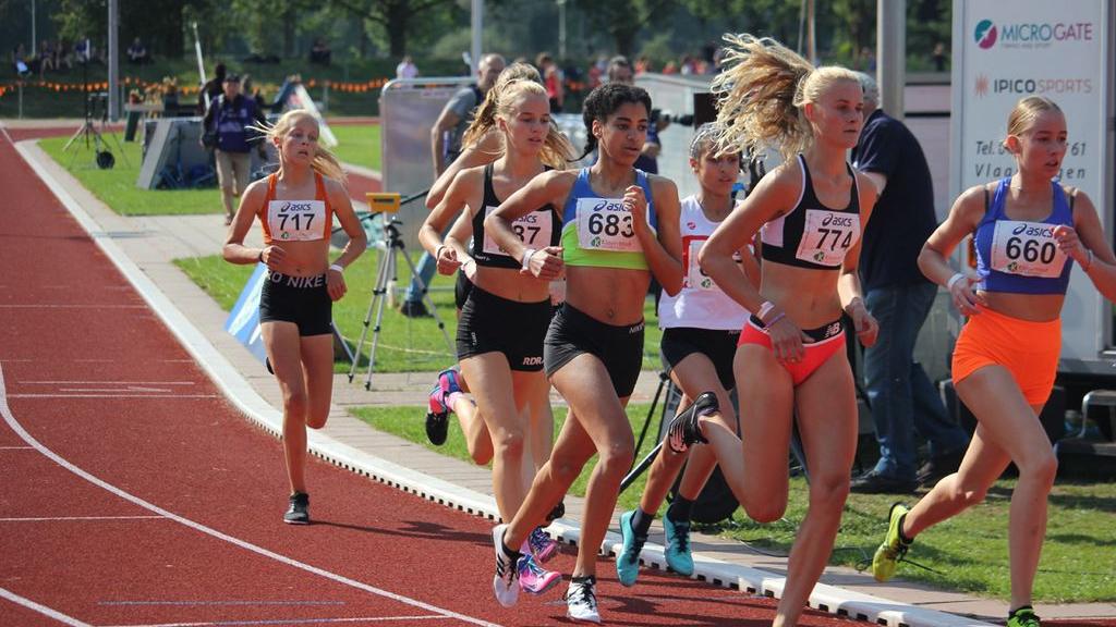 Céline van Heerikhuize van Atletiekvereniging Climax vierde op NK senioren