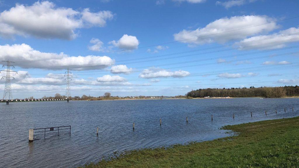 Hoogwaterpiek in werkgebied Waterschap Vallei en Veluwe