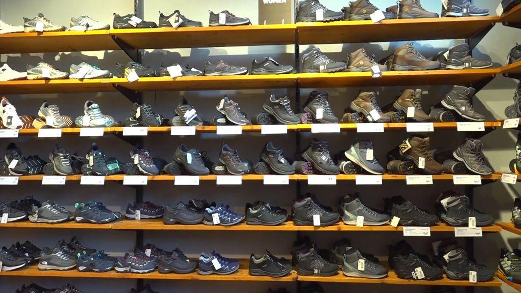 Hoe is het met de wandelschoenen verkoop?