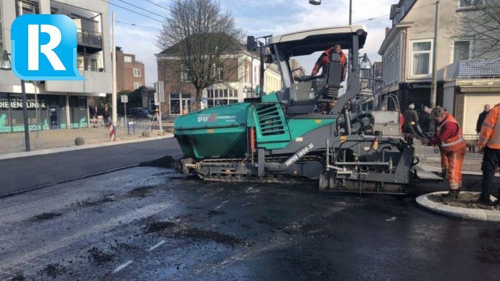 Asfalteren van de Arnhemsestraatweg in Velp is begonnen
