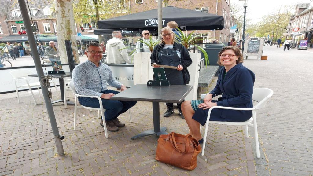Nog geen extra drukte in Wageningen bij opening terrassen