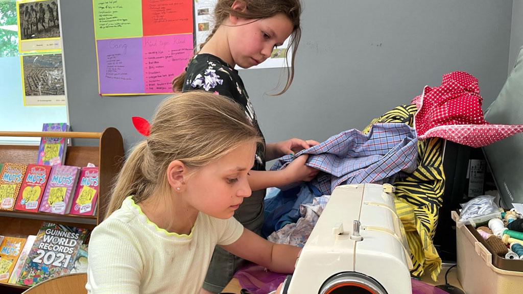 Leerlingen Anne Frankschool Ellecom starten textielrace